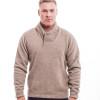 McDonald - Possum & Merino Shawl Collar Sweater with Short Zip