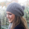 Lothlorian - Possum & Merino Cable Beanie with Fur Pompom