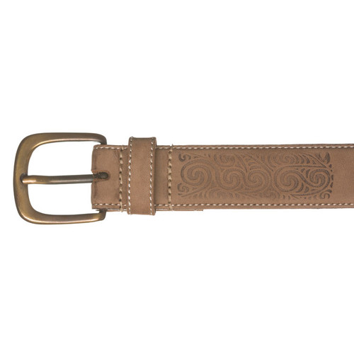 Kiwi Country Embossed Rafter Leather Belt