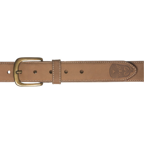Kiwi Country Embossed Face Leather Belt