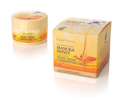 Wild Ferns Manuka Honey Rebalancing Night Creme for Combination/Oily Skin