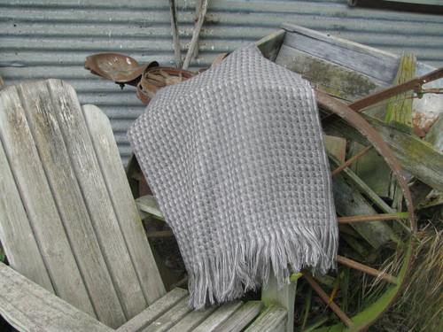 Stansborough Kauri Mid Grey Wool Throw