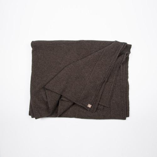 Noble Wilde Merino - Possum Moss Stitch Throw