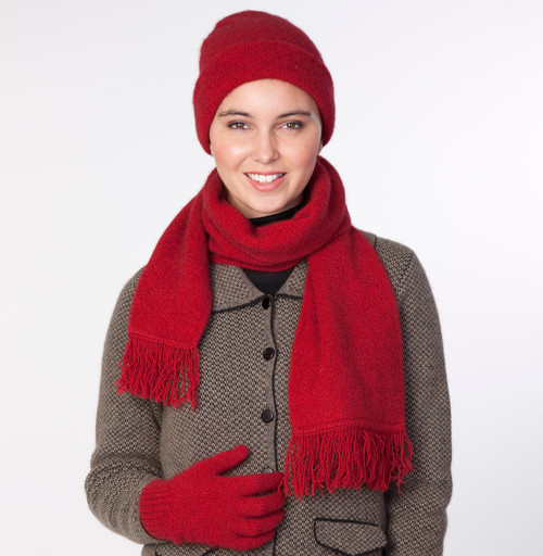 Noble Wilde Merino & Possum Beanie, Scarf and Gloves