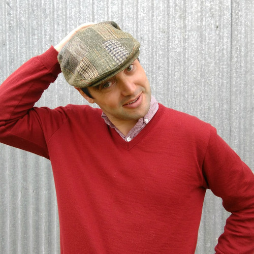 Hills Hats - English Wool Tweed Patchwork Cheesecutter