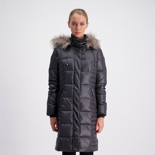 Moke - Ladies Traditional Down Box Quilt Long Coat