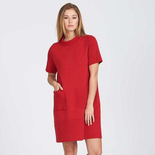 Optimum Merino - Short Sleeve Waffle Dress