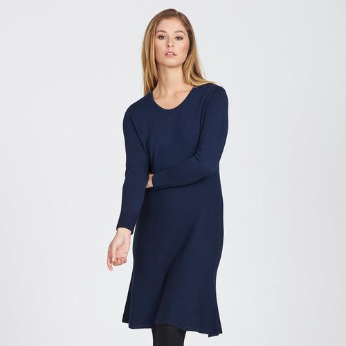 Optimum Merino - Fluted Hem Dress