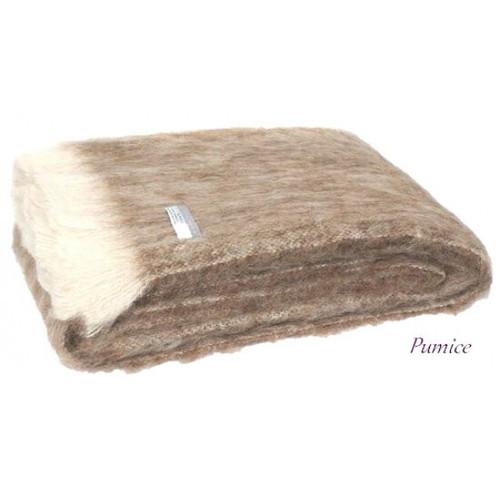 Windermere Natural Brushed Alpaca Throw - Pumice
