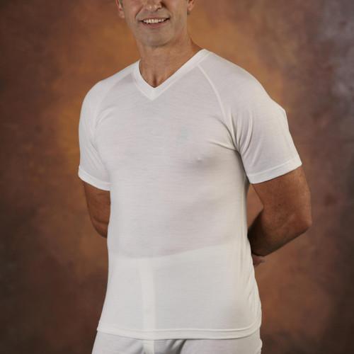 Supreme Merino Wool Mens Short Sleeve V-neck Vest