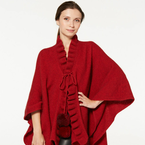 McDonald - Possum & Merino Ruffle Cape