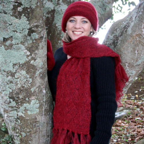 Lothlorian Mohair Lace Knit Scarf