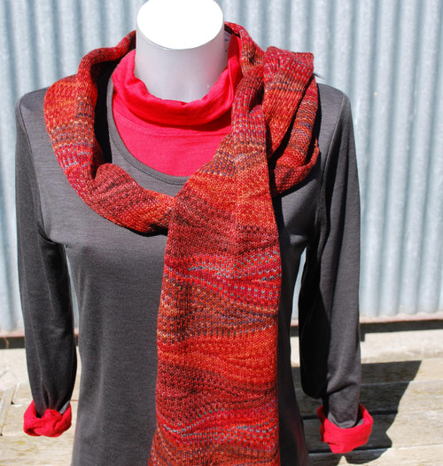 Little Wool Company Hand Dyed Merino Scarf - Autumn