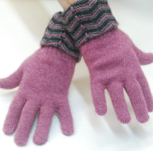 McDonald - Possum & Merino Multi Tone Cuff Gloves