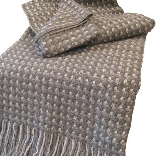 Stansborough Kauri Dark Grey Wool Throw