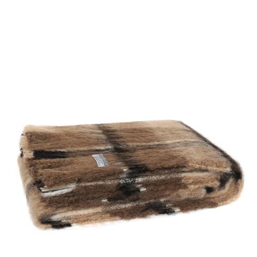 Windermere Brushed Natural Alpaca  Throw - Canterbury Check