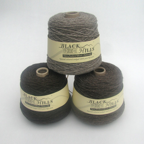Black Hills Natural Coloured Undyed Pure Wool Yarn -14 Ply Cones