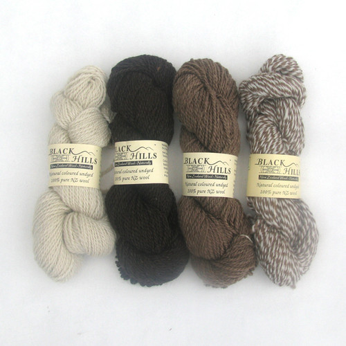 Black Hills Natural Coloured Undyed Pure Wool - 10 ply Hank