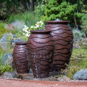 Vase/Urn Fountain Installations