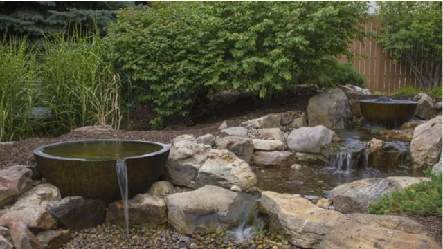 Patio Pond Installation 2
