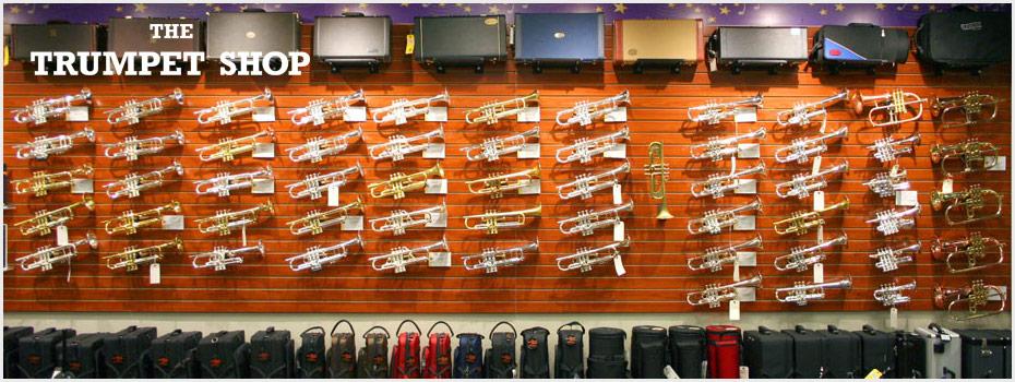 Trumpet Shop Contact Us header