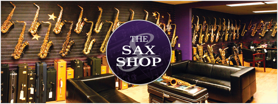 Contact Sax Shop header