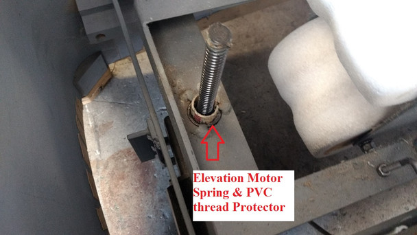 SPINALATOR IST TABLE ELEVATION MOTOR, BRAKE, PUCK, & CAPACITOR