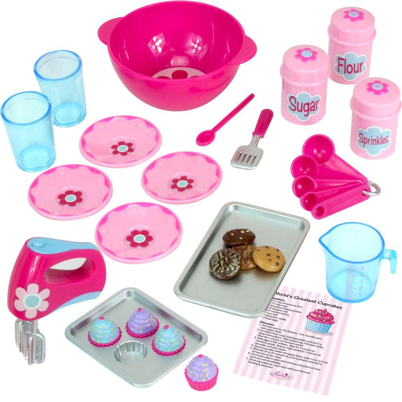 Baking Accessories Set For 18 Quot Dolls In Decorative Window