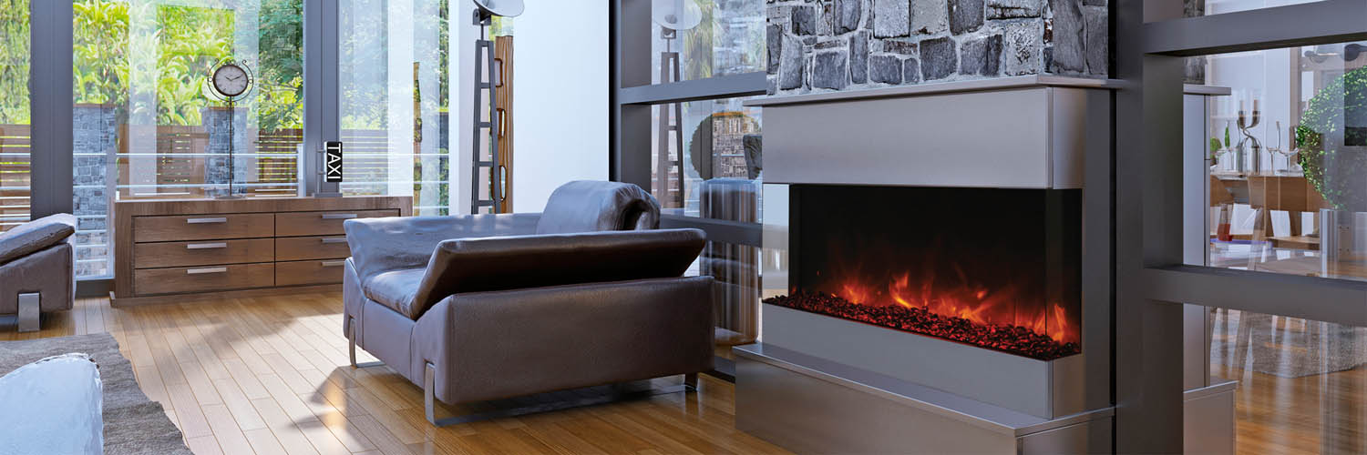 TRU-VIEW 3 Sided Electric Fireplace