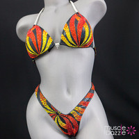 Flame Figure Competition Bikini