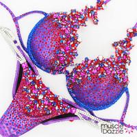 Purple theme wear diva competition bikini