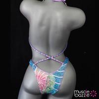 Light Purple Figure Competition Suit