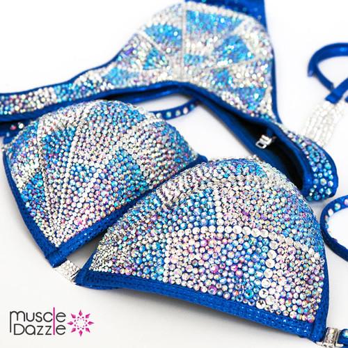 Blue Figure Competition Suit (FS238)