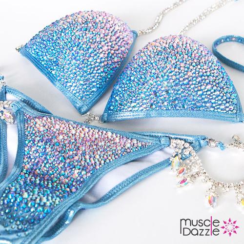 Blue Crystal Competition Bikini (CB224)