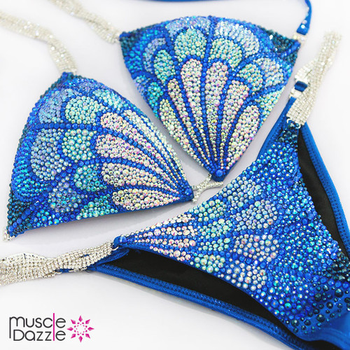 Royal Blue Crystal Competition Bikini