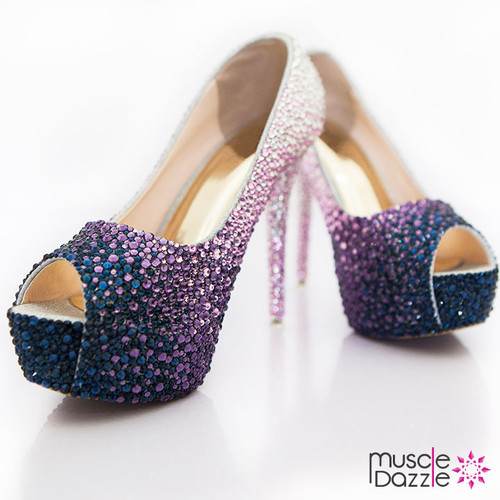 High Heel Crystal Competition Posing Shoes (SH060)