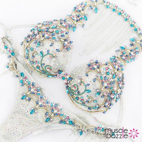 White Bikini Diva Competition Suit (DV009)