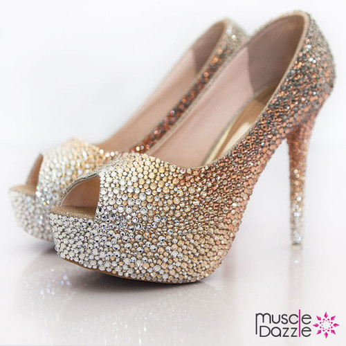 High Heel Crystal Competition Posing Shoes (SH070)