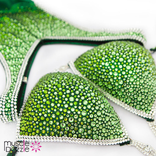 Green Ombre Figure Competition Suit (FS329)