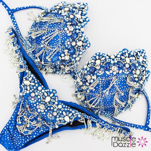 Blue bikini diva theme wear bikini