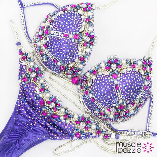 Purple WBFF Diva Fitness Competition Bikini (DV035)