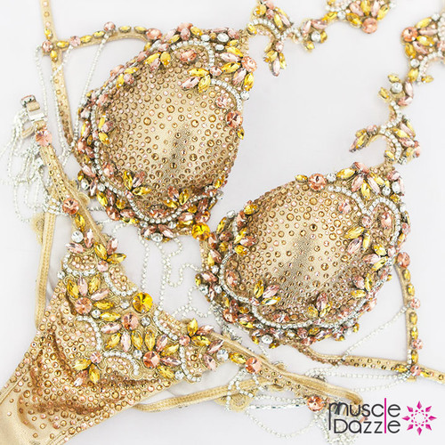 Gold Bikini Diva Competition Suit (DV042)