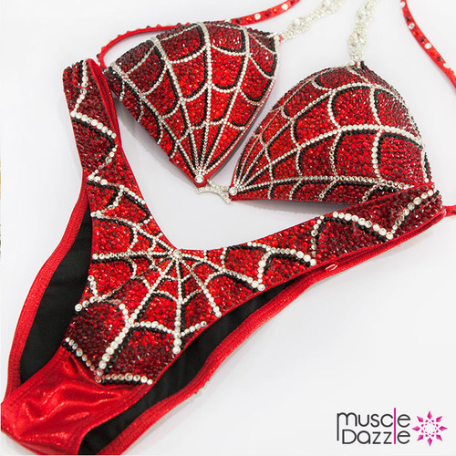 Ready Made Red Spiderman Figure Competition Suit (FS234RM)