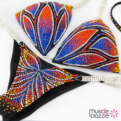 Ready Made Crystal bikini competition suit (CB443RM)