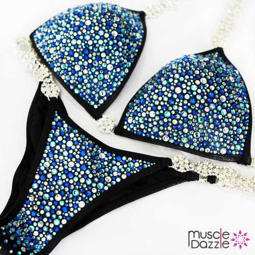 Blue Bikini Competition Suit (CB446)