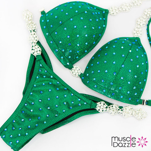 Ready Made Affordable green competition bikini (CB563RM)