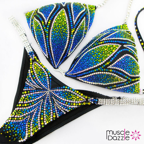 Peacock Feather Bikini Competition Suit (CB528)