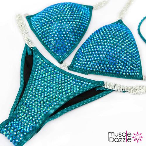 Turquoise Bikini Competition Suit (CB372)