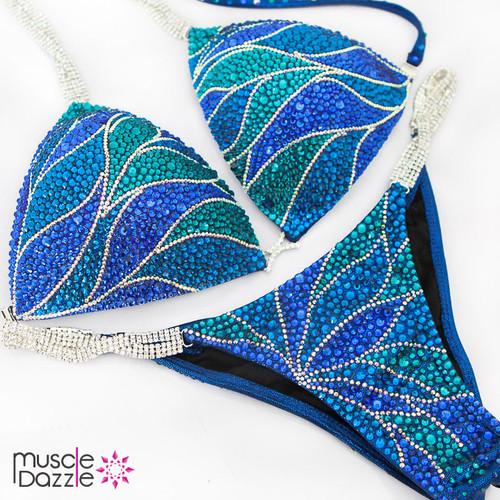 Blue Competition Bikini (CB487)