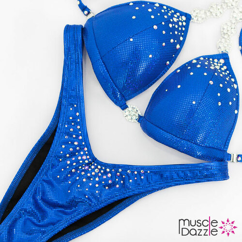 Ready Made Affordable blue figure competition suit (FS522RM)